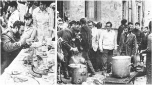 Castro feasts while striking copper miners eat whatever they can.